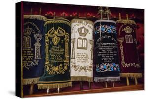 A Group of Torah Scrolls in the Neve Shalom Synagogue in Casablanca by Richard Nowitz