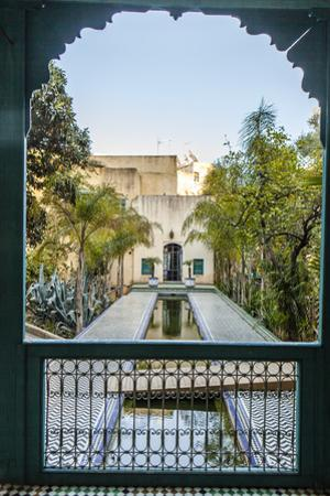 A Reflecting Pool in Le Jardin Des Biehn, a Riad or Small Hotel in the Medina of Fez by Richard Nowitz