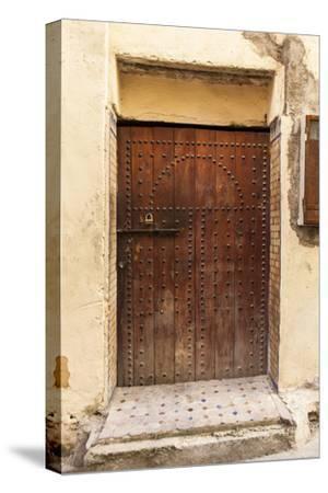 A Wooden Doorway in the Medina of Fez