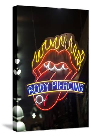 Aeon Sign Advertising Body Piercing on the Wildwood Boardwalk