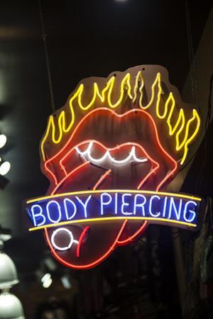Aeon Sign Advertising Body Piercing on the Wildwood Boardwalk