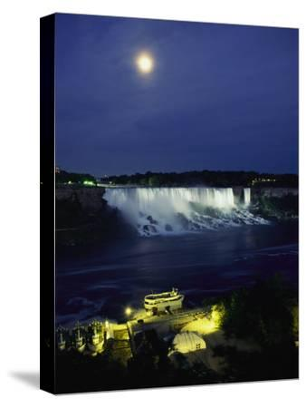 American Side of Niagara Falls, Seen at Night from Niagara Oaks Garden