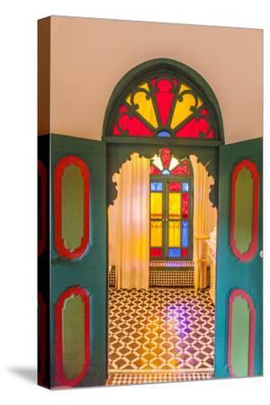 Arched Door in Le Jardin Des Biehn, a Riad or Small Hotel in the Medina of Fez