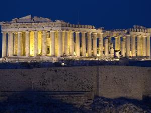 Athens Parthenon at Dusk by Richard Nowitz