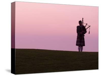 Bagpiper on a Golf Course