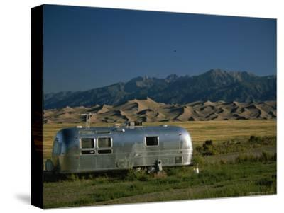 Camper Parked in Great Sand Dunes National Monument