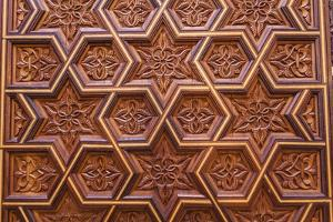Carved Star of David in the Door of the Holy Ark in the Neve Shalom Synagogue in Casablanca by Richard Nowitz