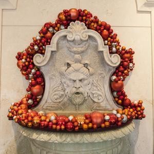 Christmas Decorations in the Lobby of a Hotel by Richard Nowitz