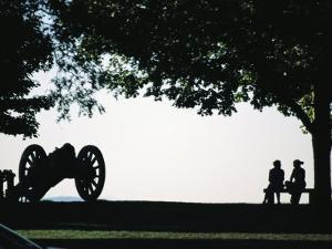 Couple Sitting on a Bench, West Point United States Military Academy by Richard Nowitz