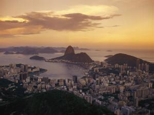 Elevated View of Rio De Janeiro and Sugar Loaf Mountain by Richard Nowitz