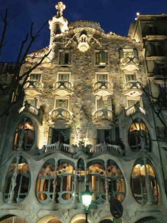 Exterior View of an Antoni Gaudi Building in Barcelona by Richard Nowitz