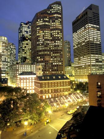 Freedom Trail, Faneuil Hall and Quincey Market in Boston, Massachusetts
