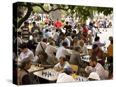 Group of Men Playing Chess in Plaza De Armas