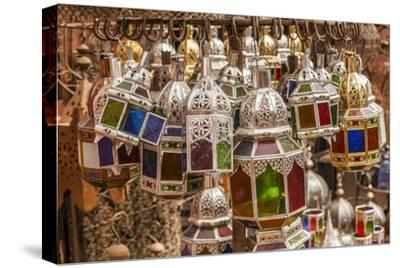 Handcrafted, Colorful Hanging Lights in the Souk in the Marrakech Medina