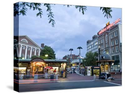 Harvard Square at Dusk