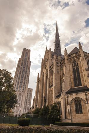 Heinz Memorial Chapel and Cathedral of Learning on the Campus of University of Pittsburgh by Richard Nowitz