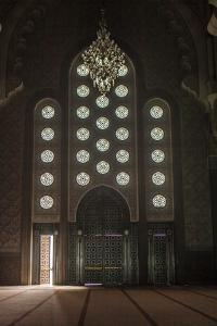 Interior Door and Window at the Hassan Ii Mosque, Casablanca, Morocco by Richard Nowitz