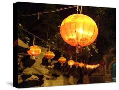 Lanterns on an Outdoor Stage
