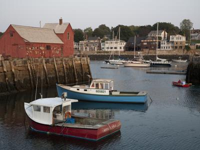 Lobster Fishing Boats and Row Boats in Rockport Harbor