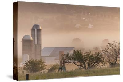 Morning Fog over Farm Along Pennsylvania Route 23 East of Lancaster, Pennsylvania