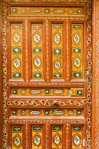 Ornate Hand Painted Medina Door by Richard Nowitz
