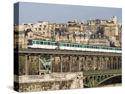 Paris Metro Crossing over the Seine River