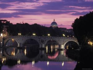 Saint Peter's Basilica Church and the Tiber River, Rome, Italy by Richard Nowitz