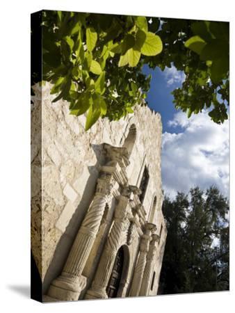 San Antonio, Texas, the Alamo, Side Angle Wide Angle View of Facade