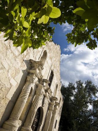 San Antonio, Texas, the Alamo, Side Angle Wide Angle View of Facade by Richard Nowitz