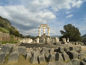 Sanctuary of Athena in Delphi by Richard Nowitz
