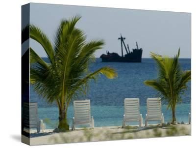 Ship Wreck Off the Coast of Coral Cay, Roatan, Honduras