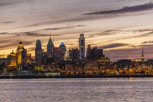 Skyline of Philadelphia Seen from Camden, New Jersey by Richard Nowitz