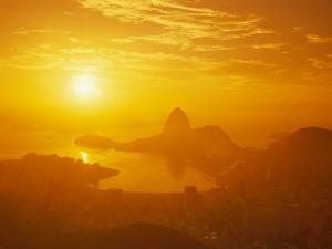 Sunrise over Rio De Janeiro and Sugar Loaf Mountain by Richard Nowitz