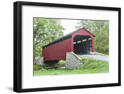 The Historic Poole Forge Covered Bridge in Churchtown, Pennsylvania