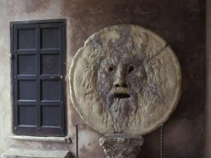 The Mouth of Truth Plate in Rome, Italy by Richard Nowitz