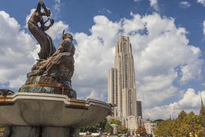 The Schenley Fountain in Front of the Cathedral of Learning at the University of Pittsburgh