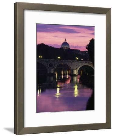 The Tiber River and the Dome of St