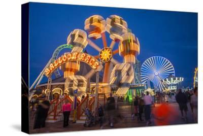 The Wildwood Beach Steel Pier's Ferris Wheel at Twilight with Blurred Motion