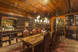 The Wine Cellar in the Antrim 1844, a Restored Plantation House in Maryland by Richard Nowitz