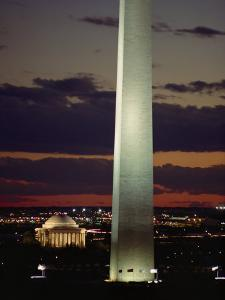 Twilight View of the Washington Monument and Jefferson Memorial by Richard Nowitz