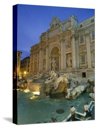 View at Dusk of the Trevi Fountain in the Piazza Di Trevi