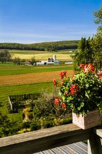 View of the Pennsylvania Dutch Farm Country from the Inn at Twin Linden by Richard Nowitz