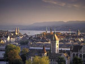 View of Zurich, Switzerland from Hotel Zurich by Richard Nowitz