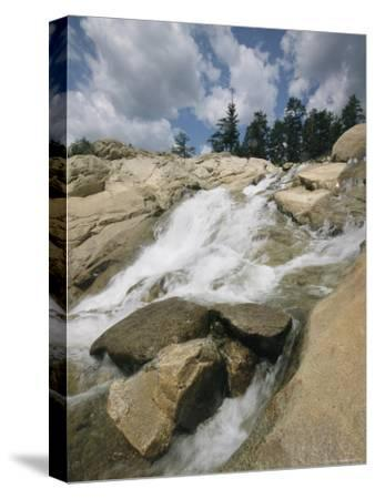 Waterfall Cascades Over Rock in Rocky Mountain National Park
