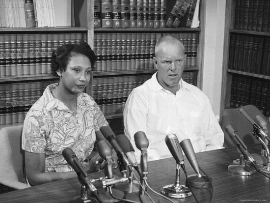 Richard P. Loving and Wife, After Supreme Court Rules That Inter Racial Marriage is Legal-Francis Miller-Premium Photographic Print