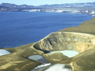 Viti Crater (With Hot Water) Beside Cold Lake Oskjuvain in Askja Caldera, Iceland