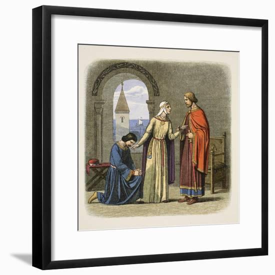 Richard Pardons His Brother John-James William Edmund Doyle-Framed Giclee Print