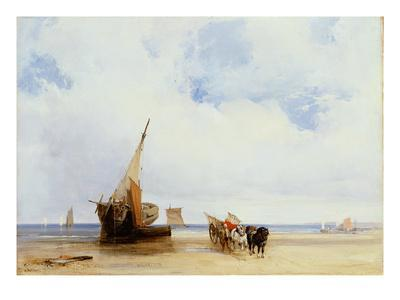 Beached Vessels and a Wagon Near Trouville, c.1825