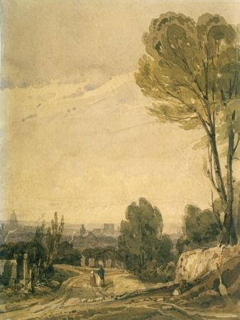 Paris Seen from the Pere Lachaise Cemetery, C1825
