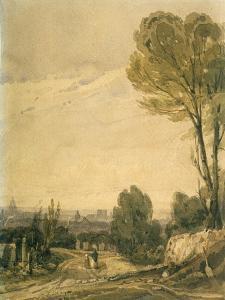 Paris Seen from the Pere Lachaise Cemetery, C1825 by Richard Parkes Bonington